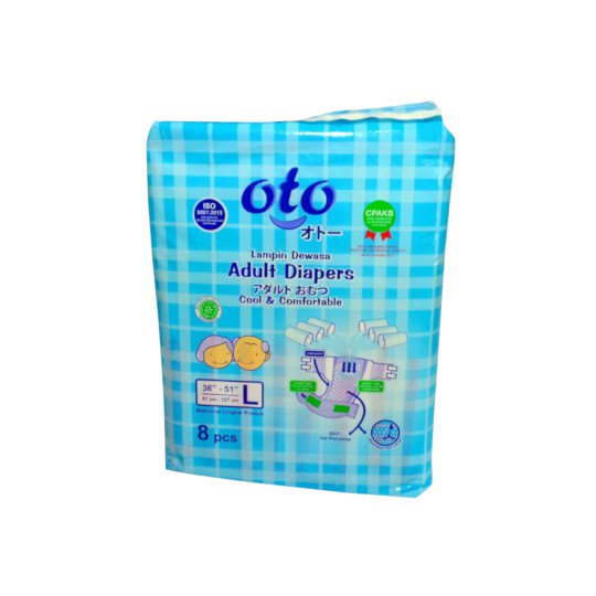 OTO ADULT DIAPERS L 8 PIECES