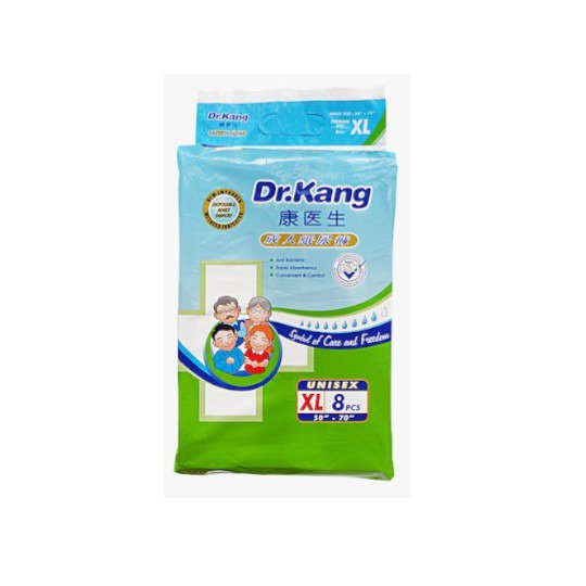 DR KANG DISP SIZE XL ADULT DIAPERS 8 PIECES