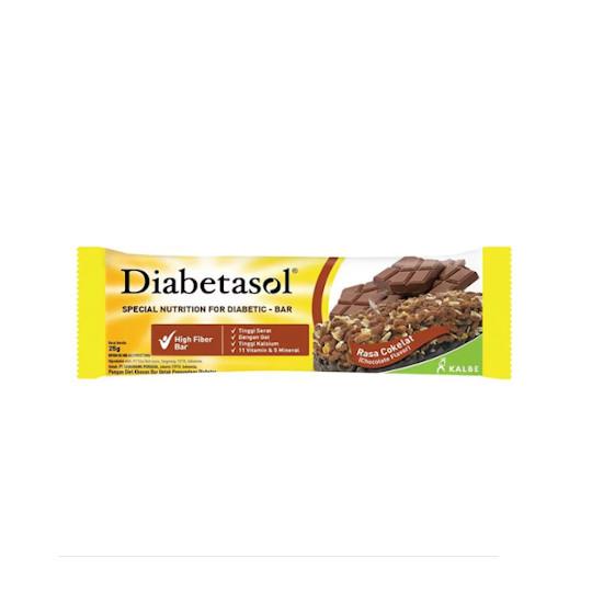DIABETASOL HIGH FIBER BAR RASA COKELAT 25 GR