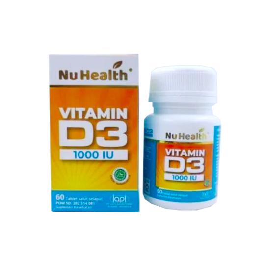 NU Health Vitamin D3 1000 IU 60 Tablet