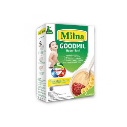 MILNA 6-12 GOODMIL BUBUR BERAS MERAH PISANG 120 G