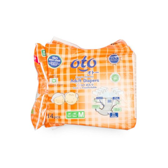 OTO ADULT DIAPERS M 14 PIECES