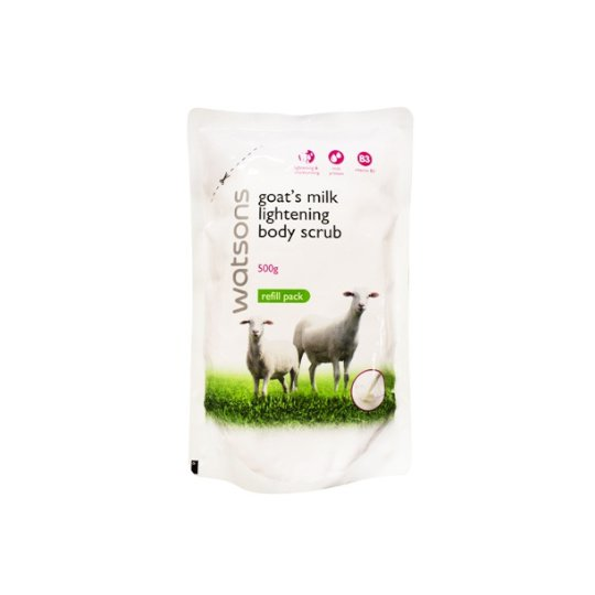 WATSONS GOAT'S MILK BODY SCRUB GREEN TEA REFILL 500 ML