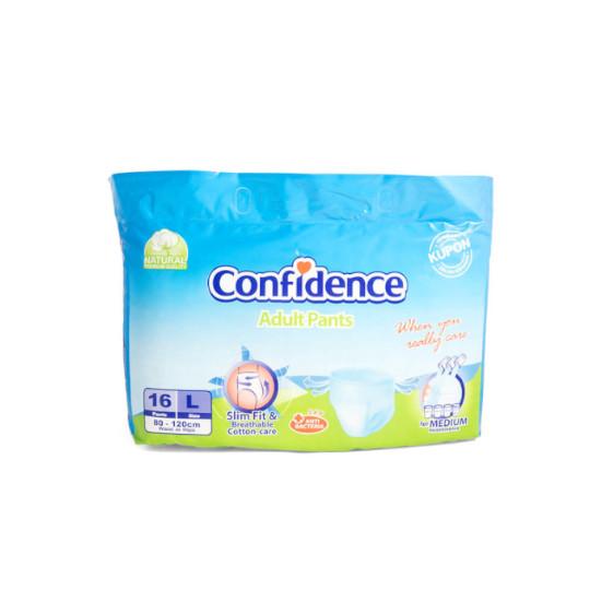 CONFIDENCE ADULT PANTS L 16 PIECES