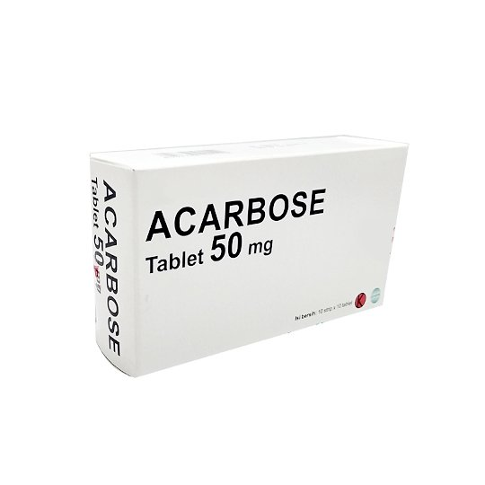 ACARBOSE 50 MG 10 TABLET