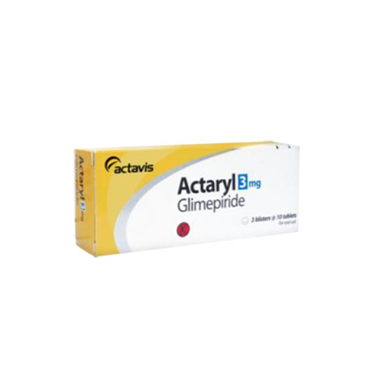 ACTARYL 3 MG 10 TABLET