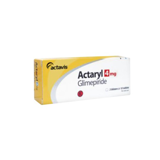 ACTARYL 4 MG 10 TABLET