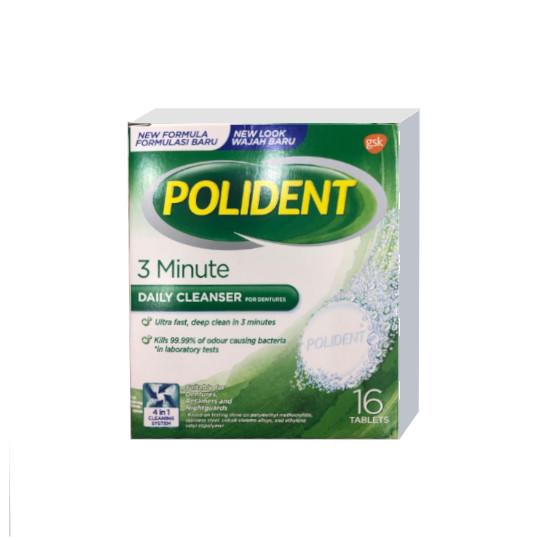 POLIDENT DENTURE CLEANSER FRESH 16 TABLET