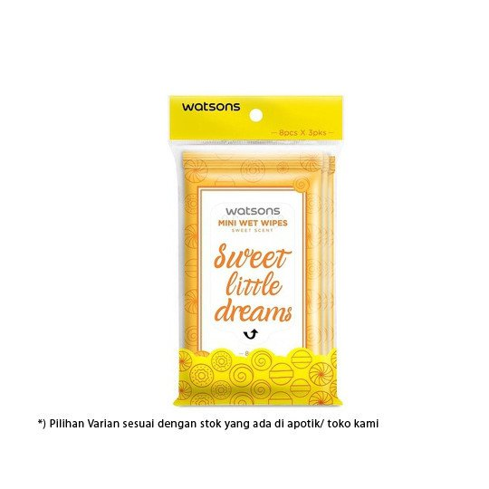 WATSONS MINI WET WIPES SWEET LITTLE DREAMS 3 PACK