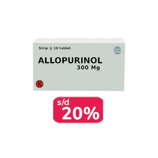 ALLOPURINOL 300 MG 30 TABLET - OBAT RUTIN