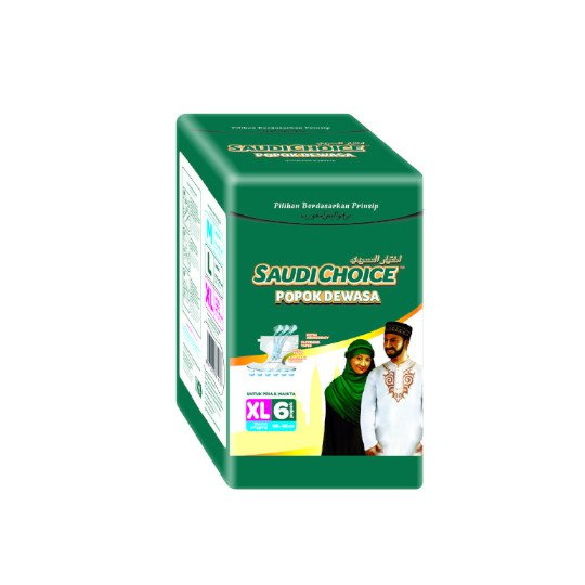 SAUDI CHOICE ADULT DIAPERS XL 6 PIECES