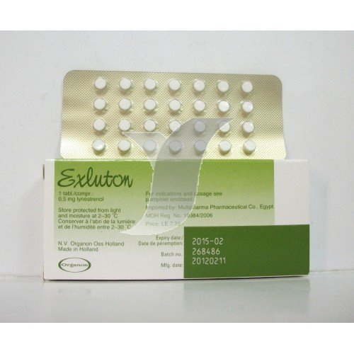 EXLUTON 0.5 MG 28 TABLET