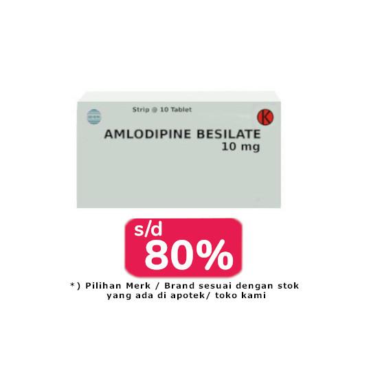 AMLODIPINE 10 MG 30 TABLET - OBAT RUTIN