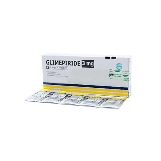 GLIMEPIRIDE 3 MG 10 TABLET