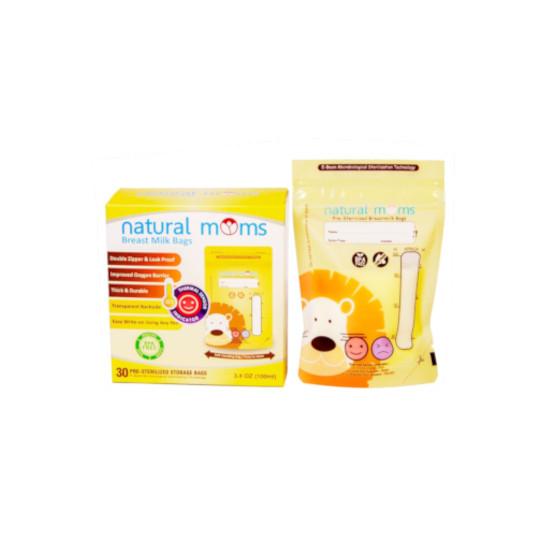 Natural Moms Breastmilk Thermal Sensor Yellow Lion 100 ml 30 Pieces