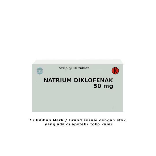 NATRIUM DIKLOFENAK 50 MG 10 TABLET