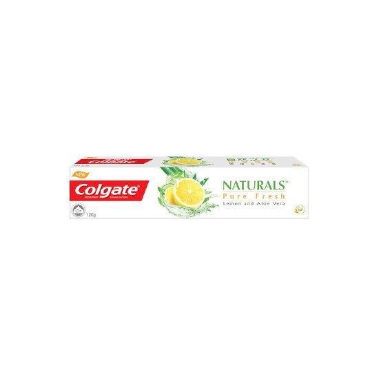 COLGATE TOOTHPASTE NATURAL PURE FRESH LEMON 120 G