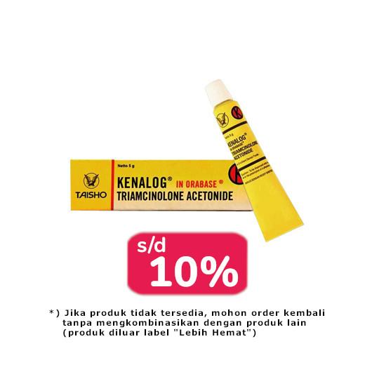 Kenalog In Orabase 0.1% Salep 5 g 2 Tube - Lebih Hemat