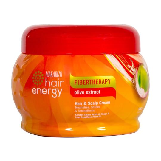 MAKARIZO HAIR ENERGY FIBERTHERAPY HAIR & SCALP CREAM OLIVE 500 G