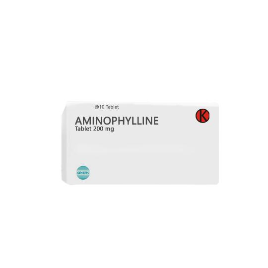 AMINOPHYLLINE 200 MG 10 TABLET