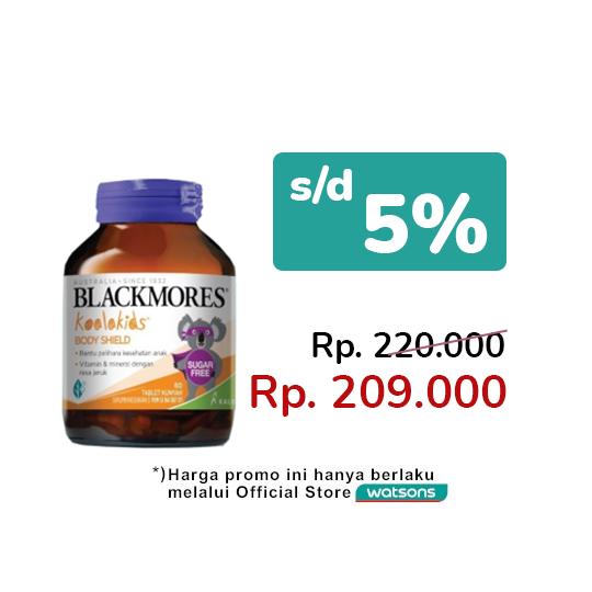 Blackmores Koalakids Body Shield 60 Tablet Kunyah
