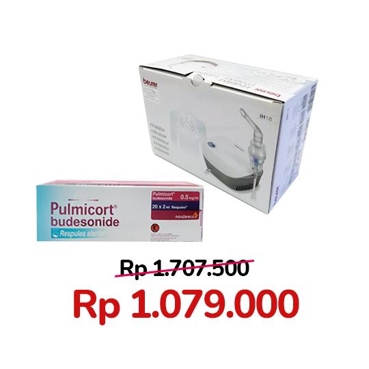 Paket Pulmicort 0.5 mg/ml 20 Respules + Beurer IH 18 Compressor Nebulizer