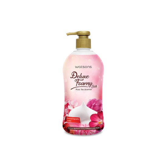 WATSONS DELUXE FOAMY BATH ROSE TEA 500 ML