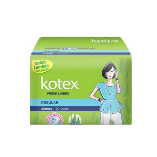 KOTEX FRESH LINER REGULER SCENTED 20 PADS