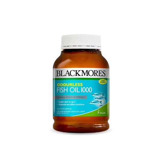 BLACKMORES ODOURLESS FISH OIL 1000 MG 400 KAPSUL