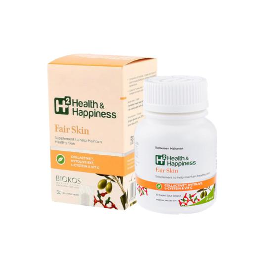 H2 HEALTH & HAPPINESS FAIR SKIN 30 KAPLET