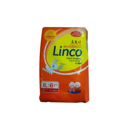LINCO ADULT DIAPERS XL 6 PIECES