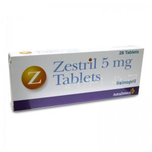 ZESTRIL 5 MG 14 TABLET