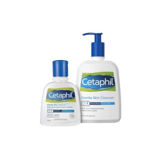 CETAPHIL GENTLE SKIN CLEANSER 125 ML + CETAPHIL GENTLE SKIN CLEANSER 500 ML