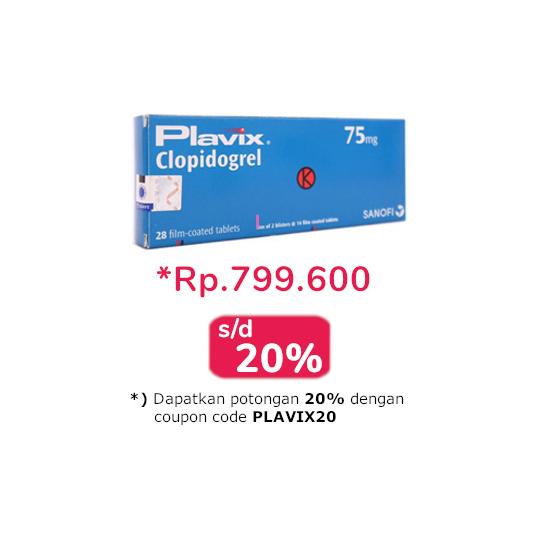 Plavix 75 mg 28 Tablet - Obat Rutin