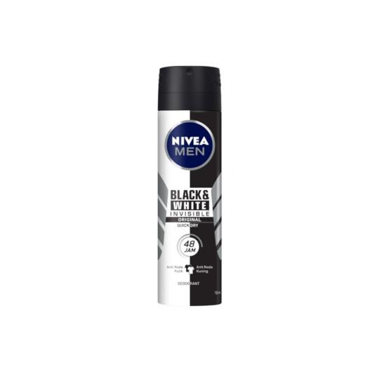 NIVEA MEN DEODORANT INVISIBLE FOR BLACK & WHITE SPRAY 150 ML