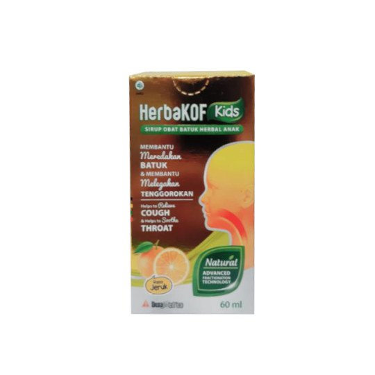 HERBAKOF KIDS SIRUP RASA JERUK 60 ML