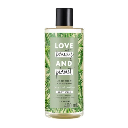 LOVE BEAUTY PLANET PURE AND POSITIVE BODY WASH 400 ML
