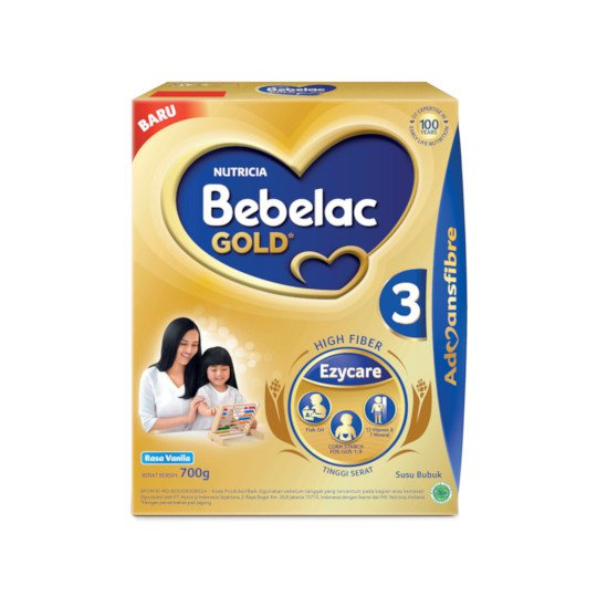 BEBELAC GOLD 3 VANILA SUSU BUBUK TINGGI SERAT 700 GR