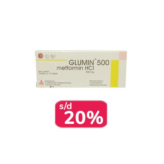 Glumin 500 mg 30 Tablet - Obat Rutin