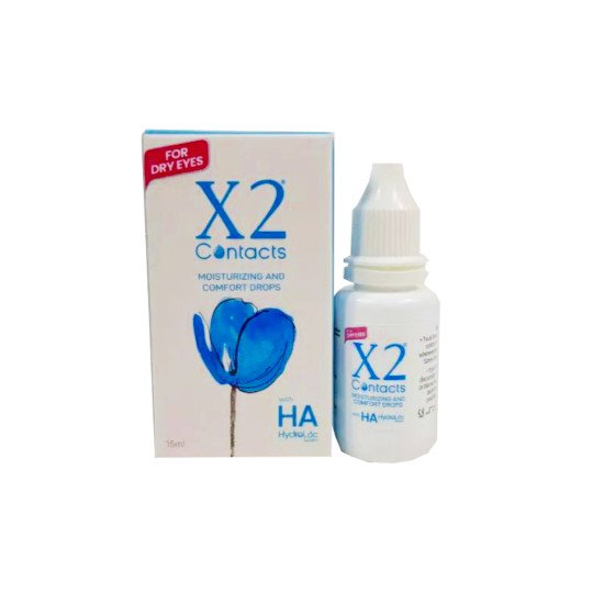 X2 Contacts Moisturizing and Comfort Drops 15 ml