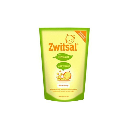 Zwitsal Baby Bath Natural with Rich Honey Refill 450 ml