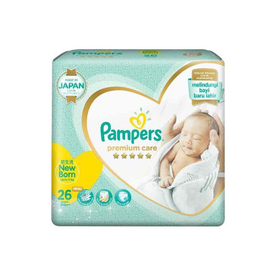 PAMPERS PREMIUM CARE NEW BABY NEW BORN 26 PADS