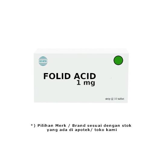 Folic Acid 1 mg 10 Tablet
