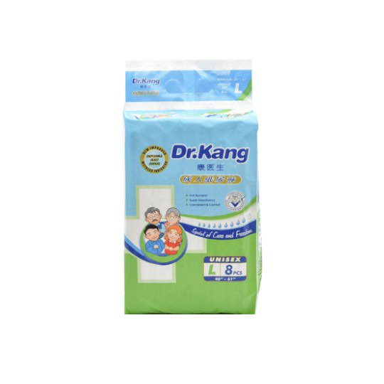 DR KANG DISP SIZE L ADULT DIAPERS 8 PIECES