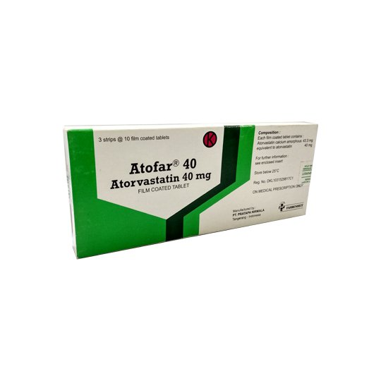 ATOFAR 40 MG 10 TABLET
