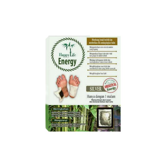 HAPPY LIFE ENERGY SILVER FOOT PATCH