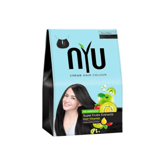 NYU CREME HAIR COLOUR NATURAL BLACK