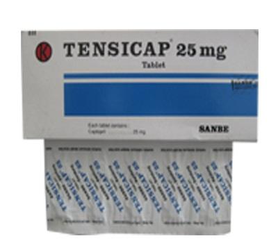 TENSICAP 25 MG 10 TABLET