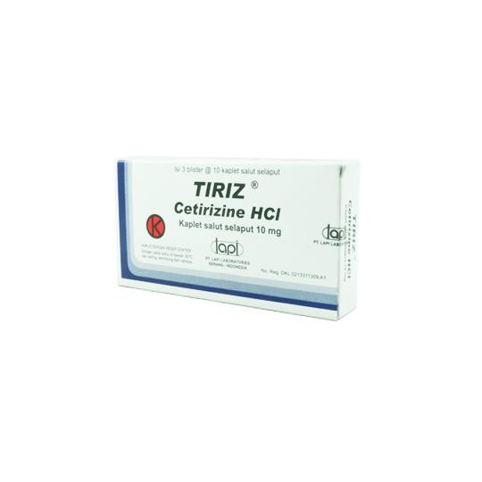 TIRIZ 10 MG 10 TABLET