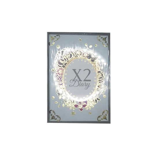 X2 DIARY CREAMY GREY - NO MINUS